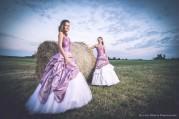 Dia és Péter esküvői kreatív portré - koszorúslányok