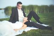 Dia és Péter esküvői kreatív portré - Balaton, Keszthely