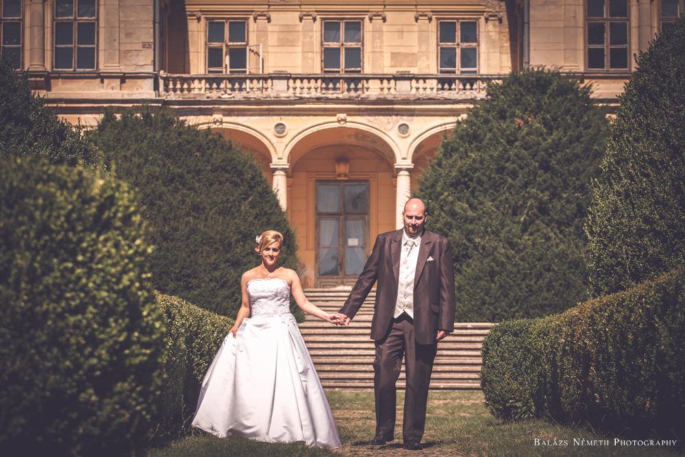 Andi és Gábor esküvői kreatív portré - Wenckheim-kastély