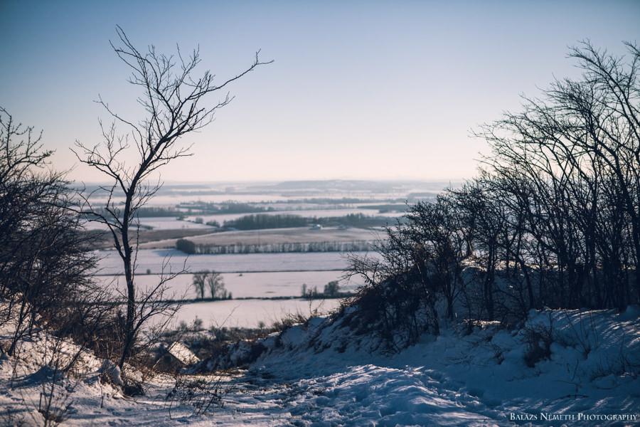 Téli havas Vas megyei táj a Ság Hegyről