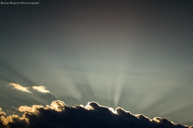 felhők a naplementében